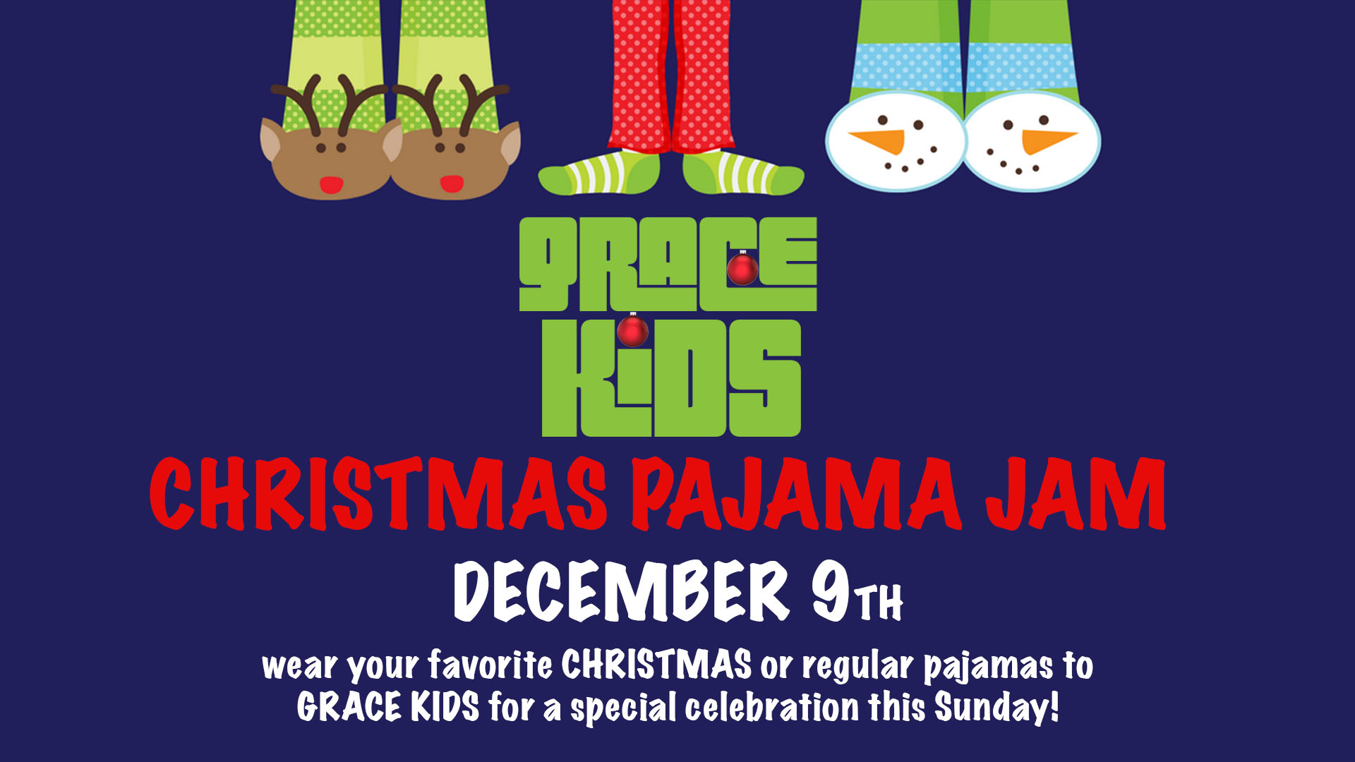 Grace Kids Christmas Pajama Jam!